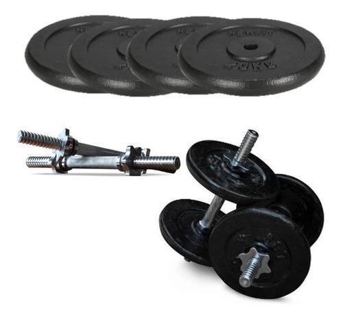 mancuernas pesas 36lb/18kg +seguros escojes los discos