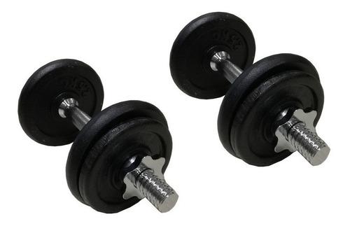 mancuernas pesas por par rosca cromada maciza + 15 kg discos
