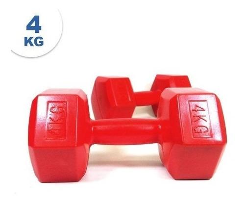 mancuernas plasticas par 4 kg  x 2 = 8 kg | sdmed