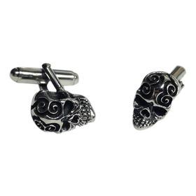 Mancuernilla Calavera Garigol Plata Mauricio Serrano Jewelry