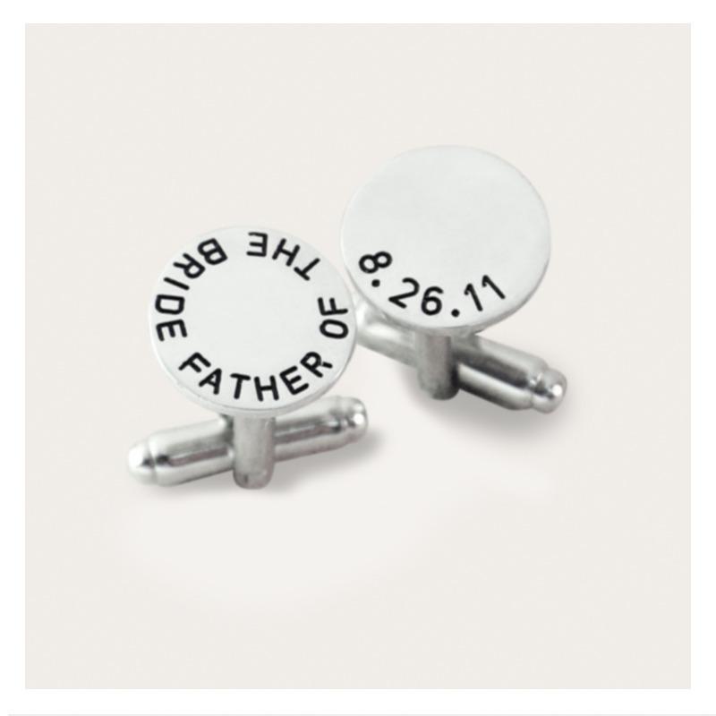 af9dbc648aaa mancuernillas estampadas de plata personalizadas   regalo. Cargando zoom.