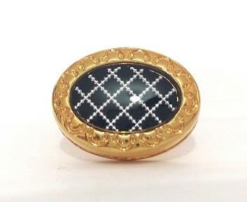 mancuernillas formales dorado con negro acero gemelos d-961