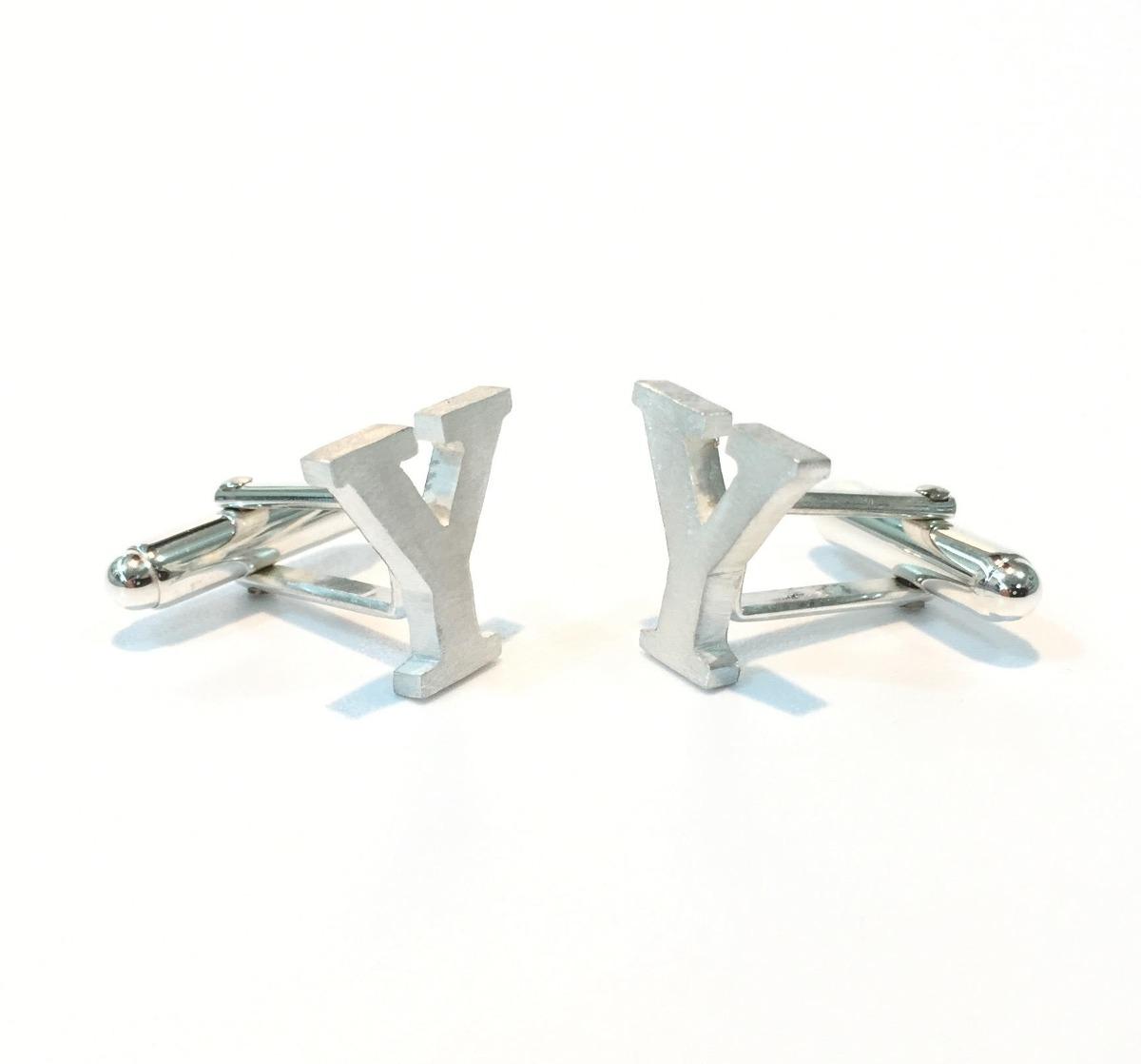 Mancuernillas personalizadas en plata con ba o de oro for Bano de plata precio