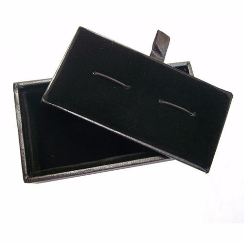 mancuernillas pluma negra escritor acero plateado 067