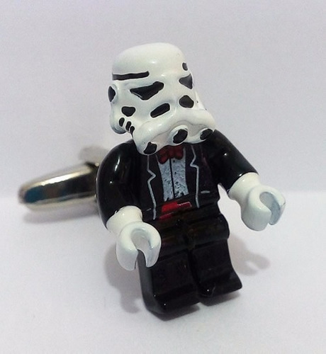 mancuernillas stormtrooper negro star wars acero gemelos 475