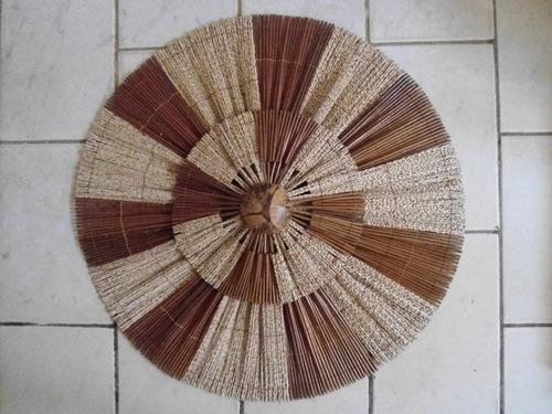 mandala 80 cm  rustica artesanal pico das artes