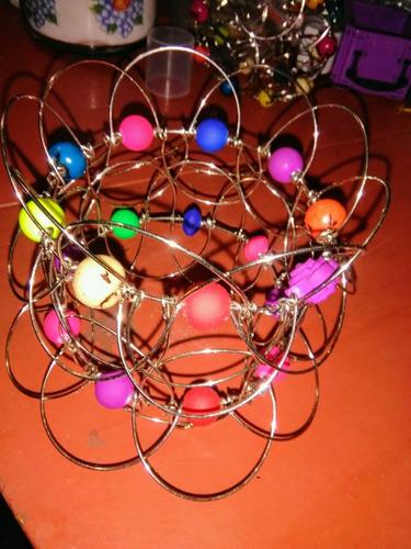 mandala alambre doble tridimensional