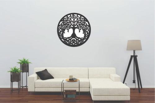 mandala árvore da vida mdf pintado 3d quadro decoração br/pr