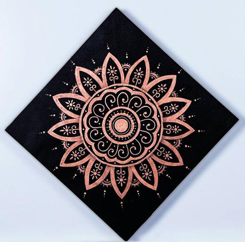 mandala de 30x30 cm hecho a mano (pieza única )