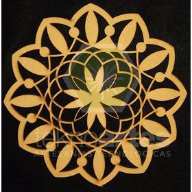 Mandala De Mdf Fibrofacil 3mm Calado De 20cm