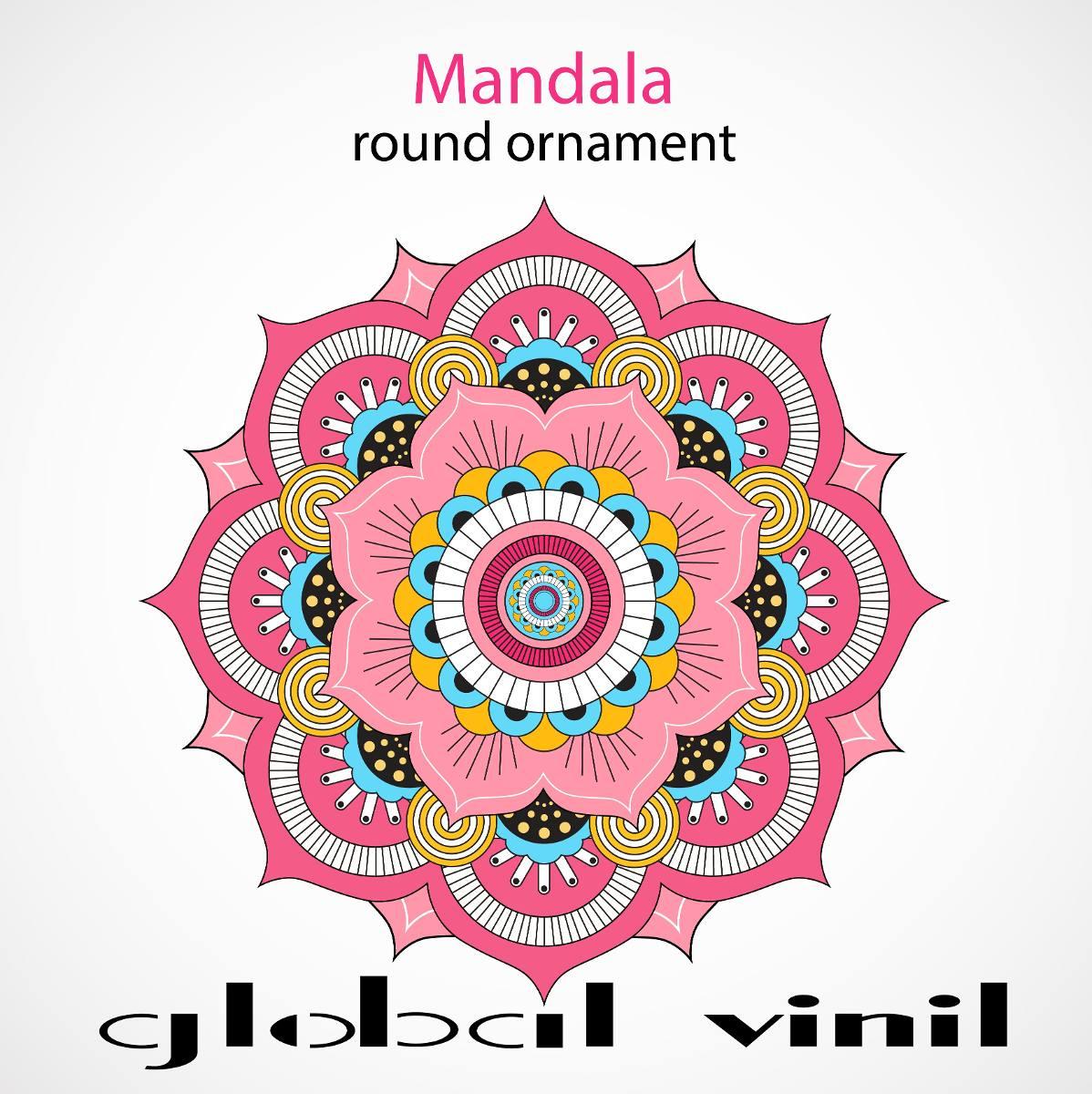 Mandala decoracion para tu pared vinil envio gratis for Vinilos pared mandalas