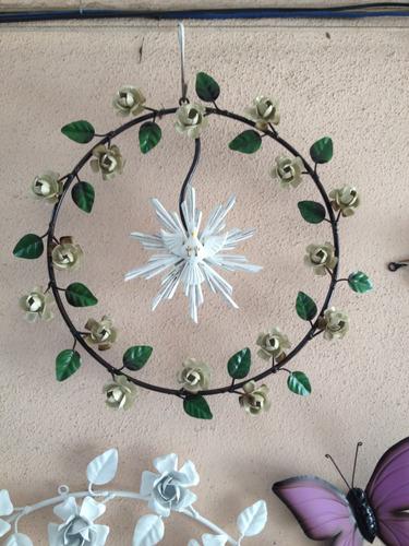 mandala divino - artesanato em ferro - 30cm - frete grátis