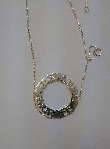 mandala em prata com banho de ouro 18k branco