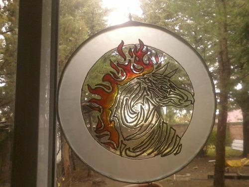 mandala en vidrio 18 cm