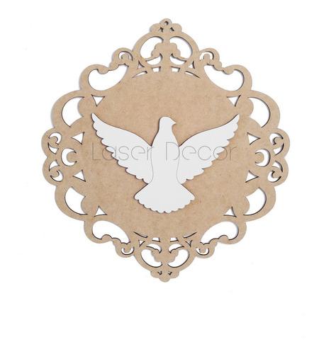 mandala esplendor 2 divino espírito santo mdf 35 cm