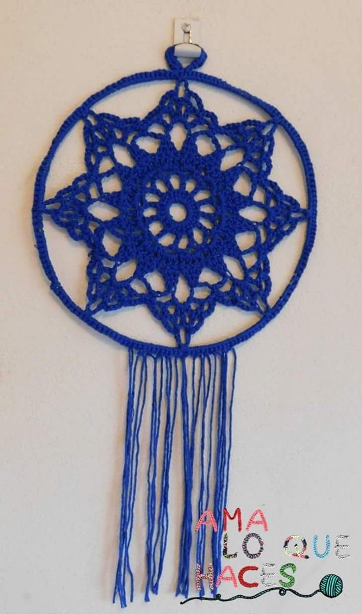 Mandala Estrella Tejida A Crochet - $ 180,00 en Mercado Libre