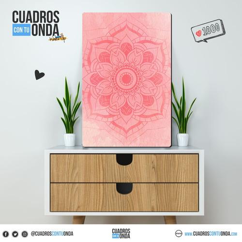 mandala - flor rosa - cuadro tamaño m