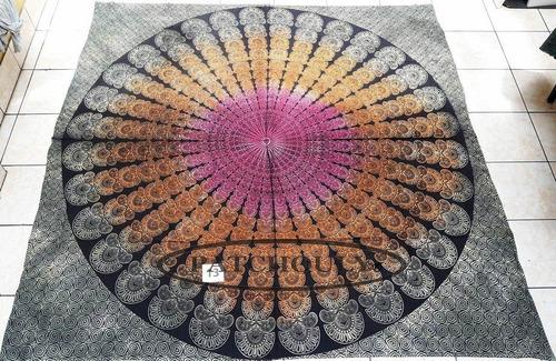 mandala hindú cubrecama colcha 2plazas 100%algodón estampado