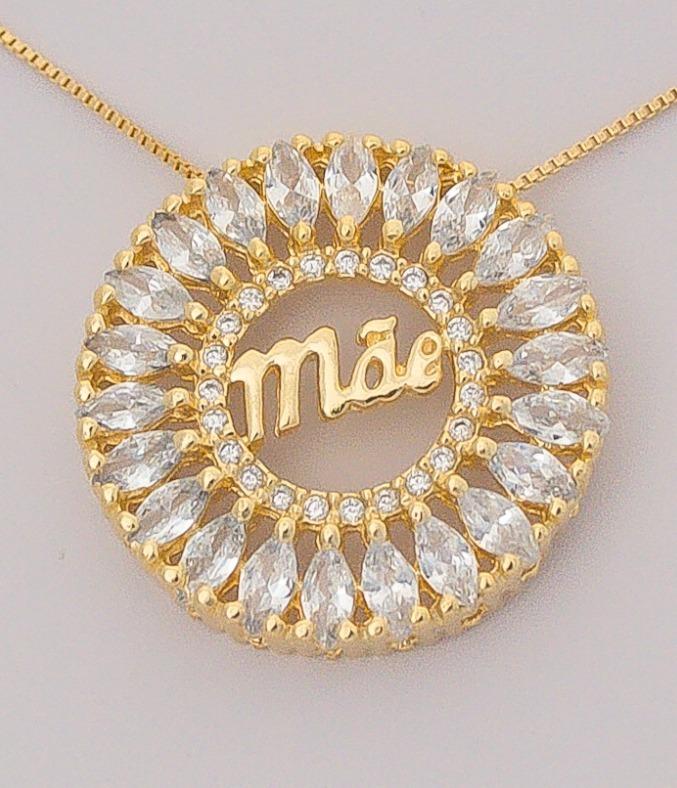 Mandala Mãe Semi Joias Luxo Folheado A Ouro - Frete Grátis - R  87 ... 6cb3a33c2b