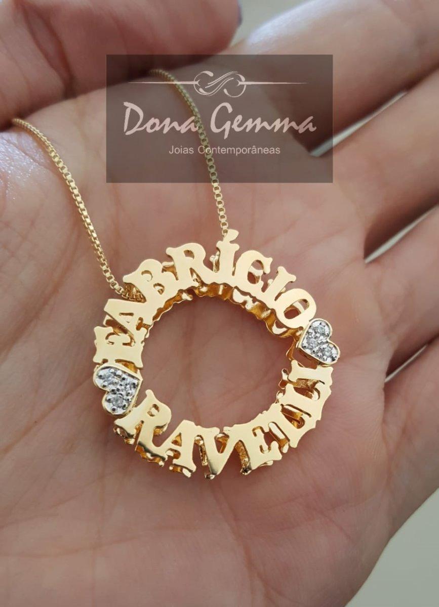 mandala personalizada nomes banhado ouro folheada zircônias. Carregando  zoom. d24013380e