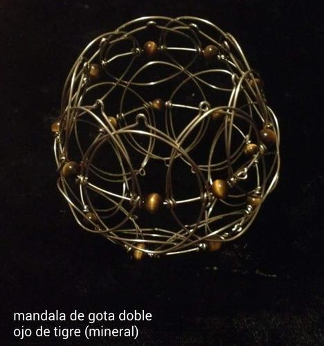 mandala tridimensional doble plata alemana