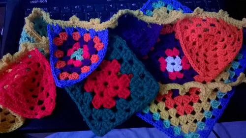 mandalas a crochet, artesanales, escarapelas, señaladores