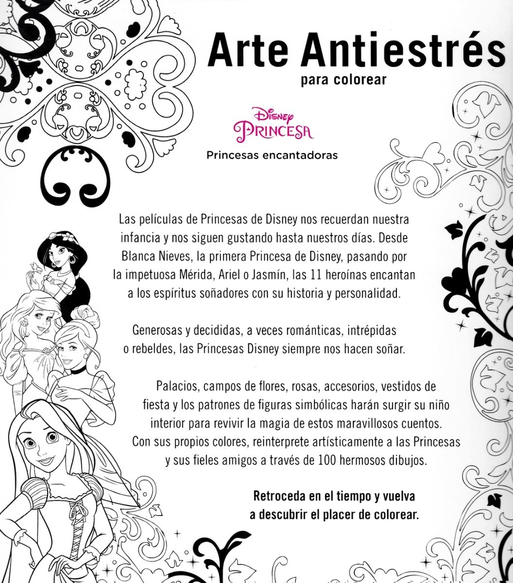 Mandalas Disney Arte Antiestres Princesas Encantadoras
