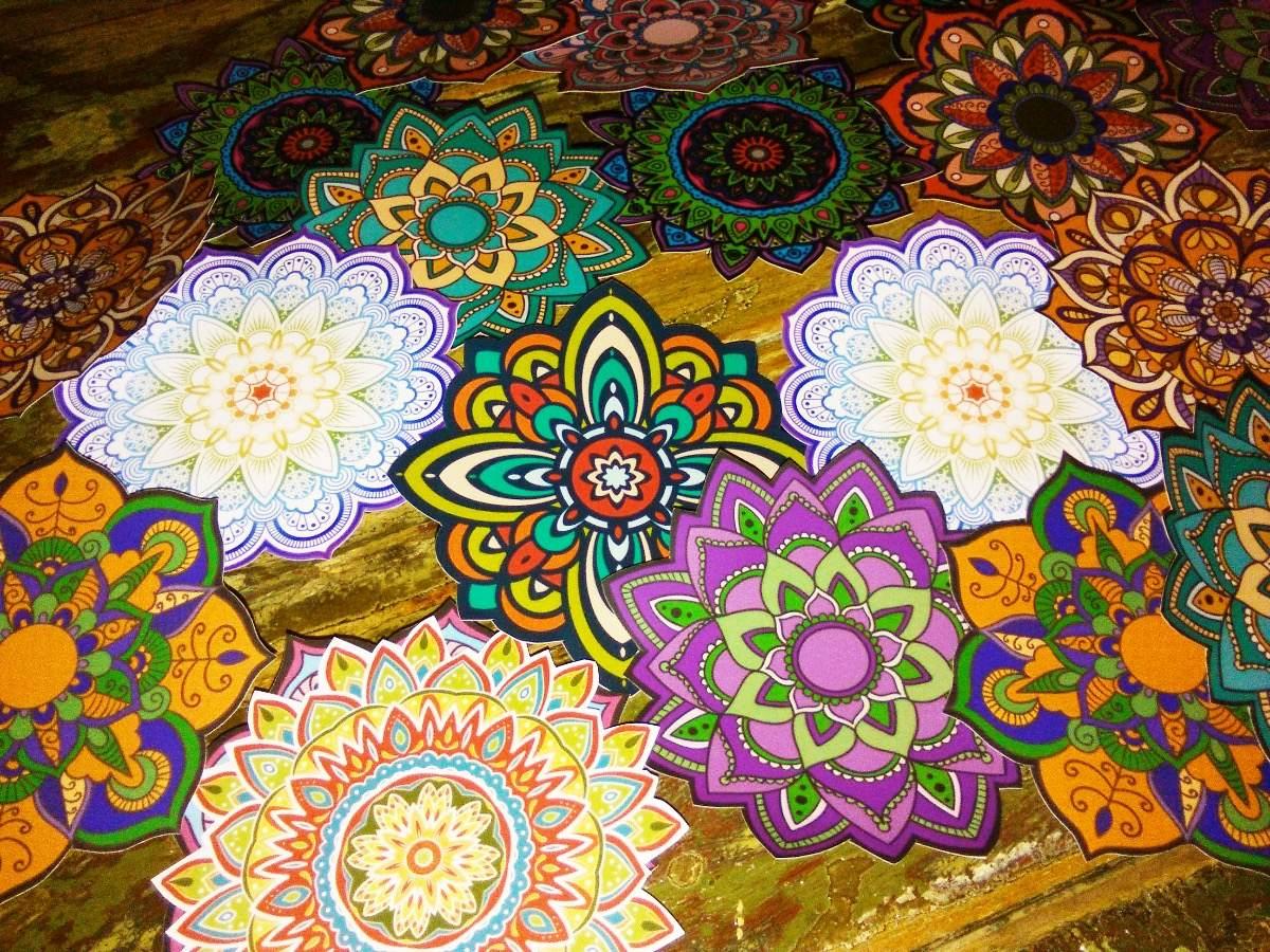 Mandalas En Vinilo Para Frascos Souvenirs Decoración