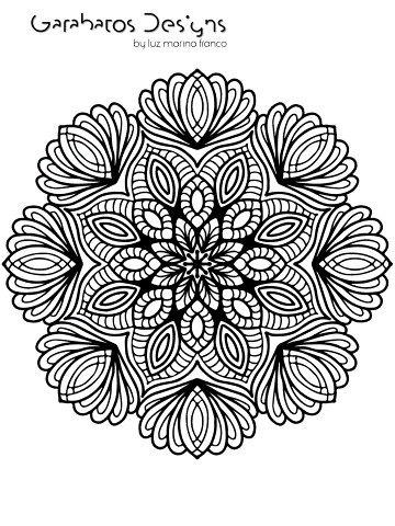 Mandalas, Libro Para Colorear Pdf, 100 Diseños Exclusivos   $ 260