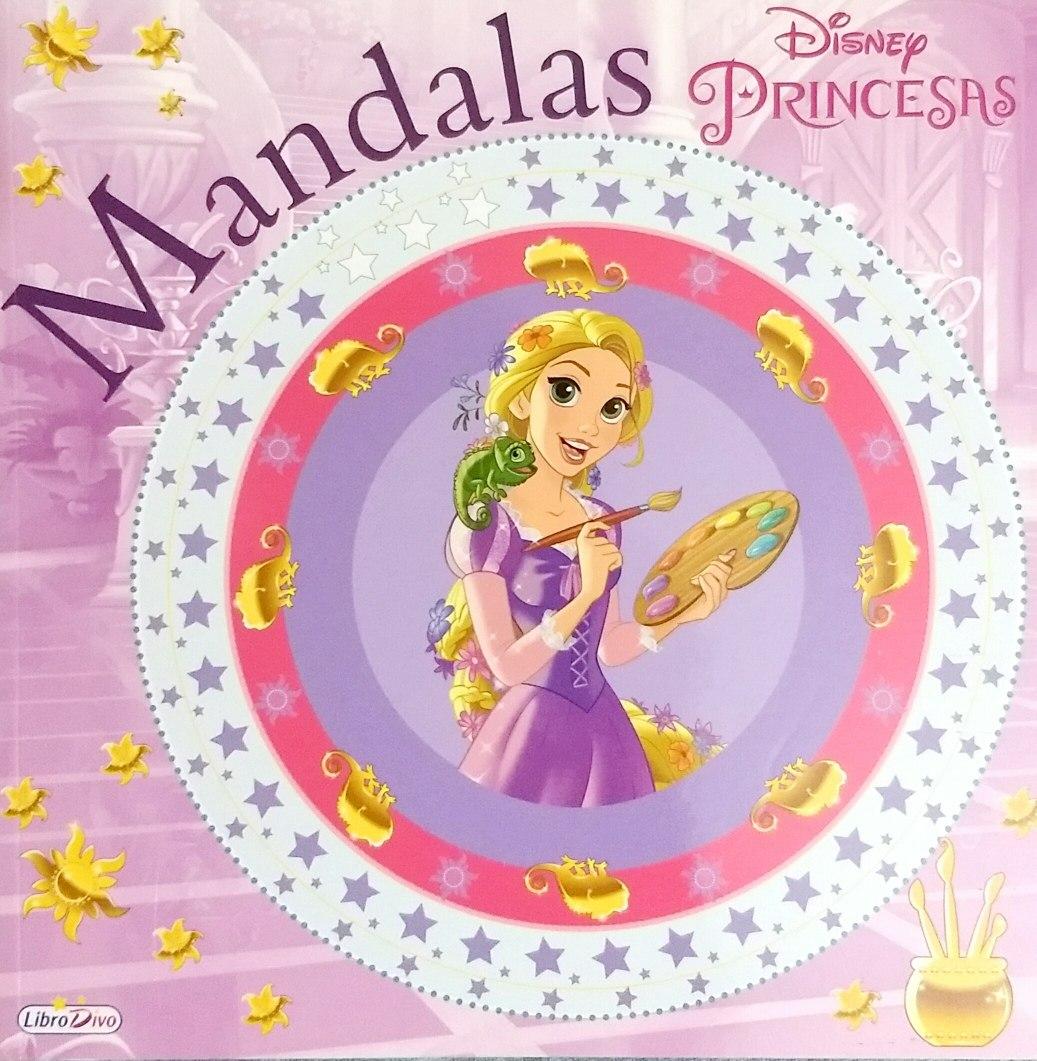 Mandalas Libro Para Colorear Princesas Disney 80 Paginas