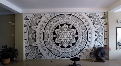 mandalas murales hechas a  mano
