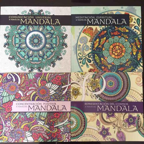 mandalas para colorear 4 libros + 24 lapices de colores