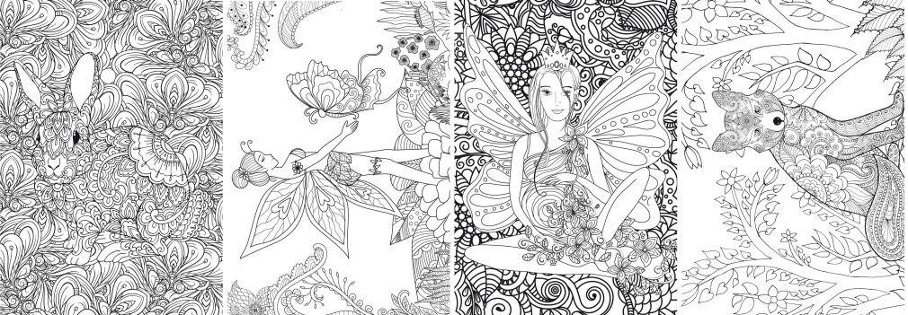 Mandalas Para Colorear Colour 46 Bosques Cuentos De Hadas 1900