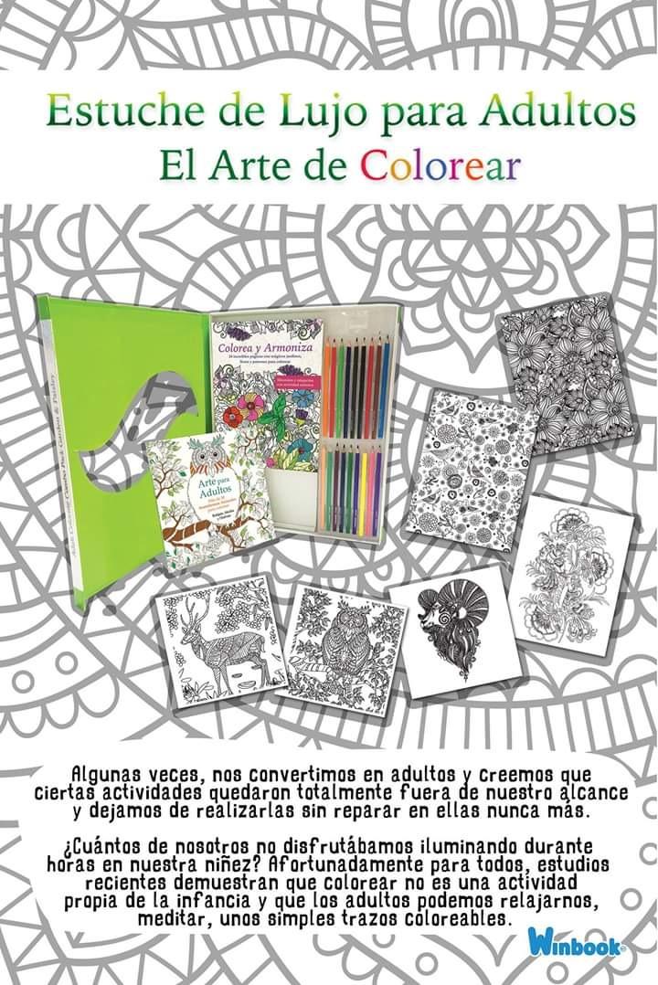Mandalas Para Colorear Estuche De Arte Para Adultos+ Colores ...