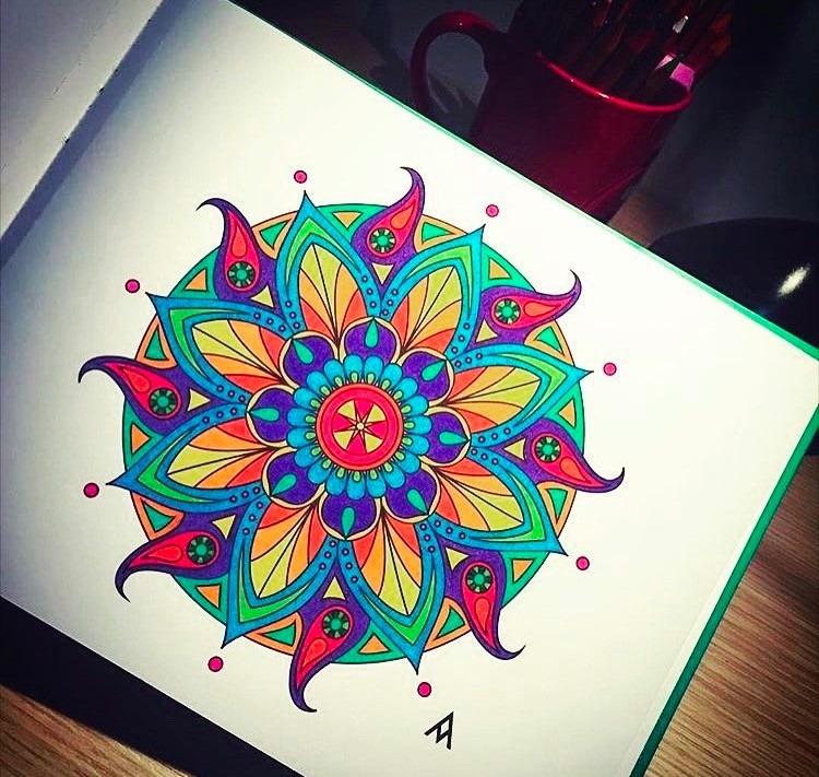 Mandalas Para El Alma Libros Pintar Colorear(andrea Agudelo