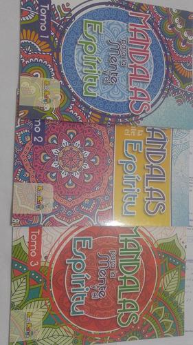 mandalas para la mente y espiritu, 3 libros por $ 18.00