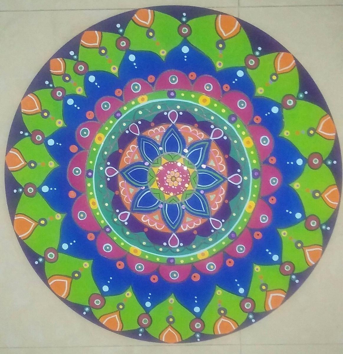 Mandalas Pintados A Mano 100000 en Mercado Libre