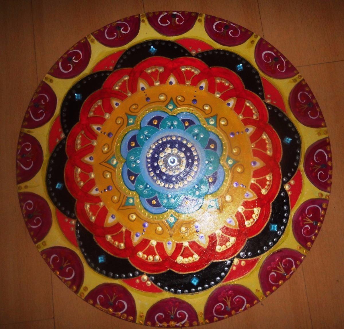 Mandalas Pintados A Manocon Piedras 60 Cm Diametro 159900 en
