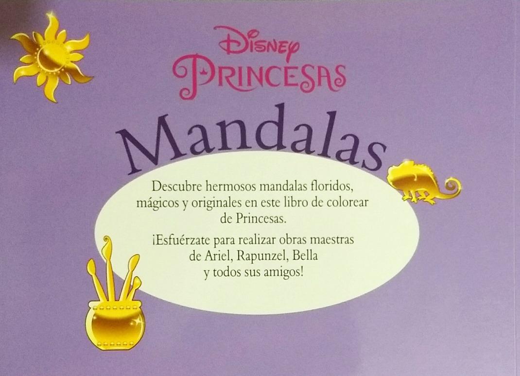 Mandalas Princesas Disney Libro Para Colorear 80 Paginas. - $ 89.00 ...