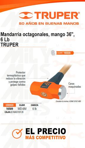 mandarria octagonal mango 36 6 lb truper cod. 16509