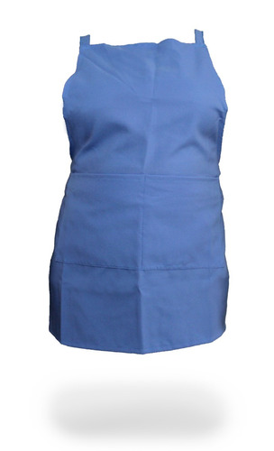 mandil azul con bolsas unitalla marca zizoi
