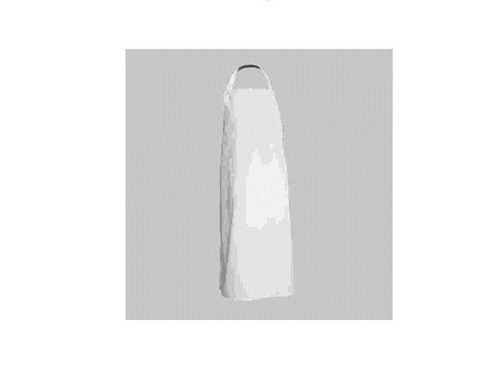 mandil blanco largo