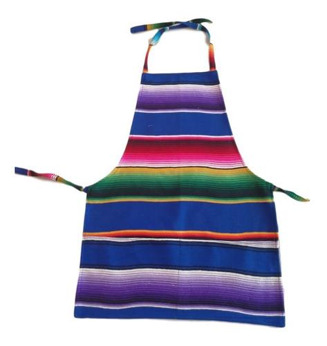 mandil de sarape mexicano con envío (12 pack)
