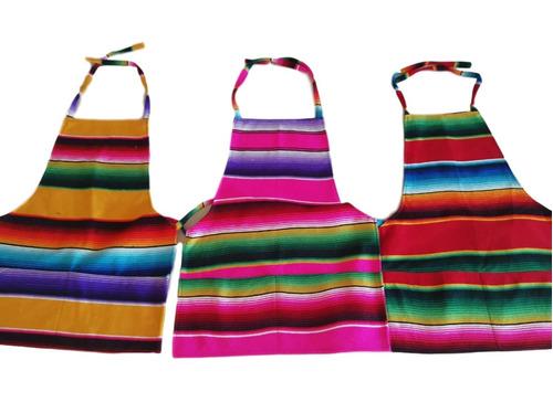 mandil de sarape mexicano con envío (25 pack)