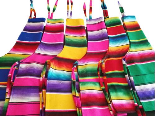 mandil de sarape mexicano con envío