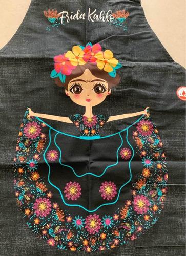 mandil delantal frida kahlo flor cupcakes paris