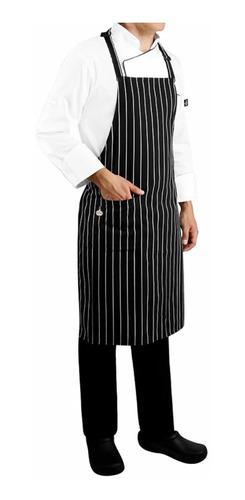 mandil estampado con peto para chef permachef