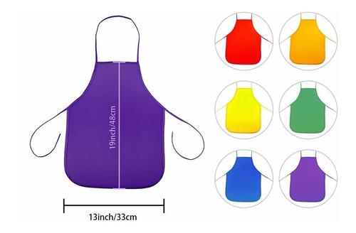 mandil o delantal de cocinero, pintura para niño/a 12 piezas