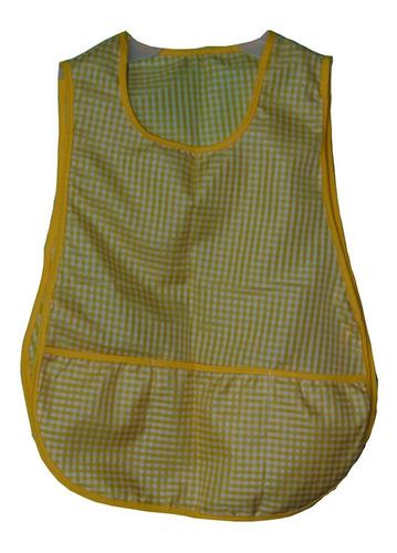 mandil o delantal escolar 10 piezas diferentes colores