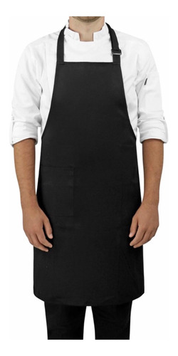 mandil para chef con peto liso unisex permachef